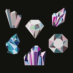 Fototapeta crystal six gems obraz