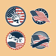 Obraz Usa badges set - fototapety do salonu