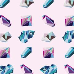 Fototapeta crystal gems pattern obraz
