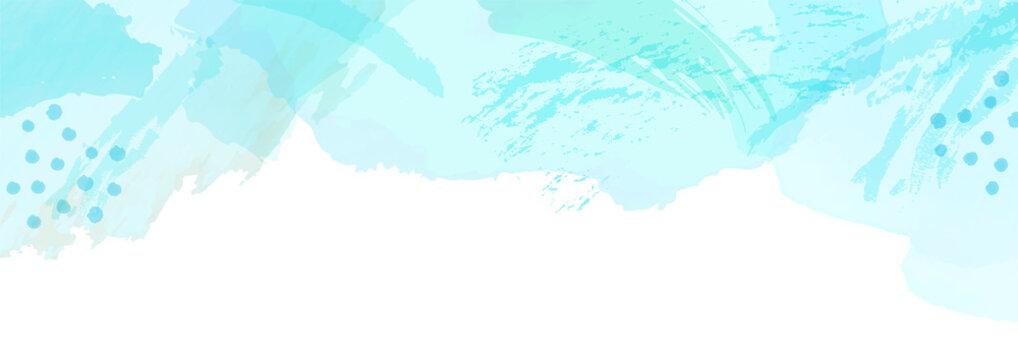 水彩アートの背景 水色