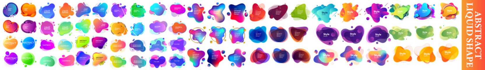 Set of Liquid Gradient Shapes and Banners. abstract liquid shape, Set of modern abstract liquid shapes and banners. graphic design elements. Vector illustrations for logo design,bright colorful paint