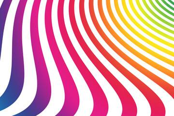 Kolorowe paski na białym tle. Abstrakt lgbt tęcza, flaga