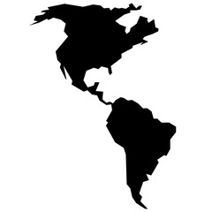 Fototapeta rough silhouette of American continent isolated on white vector illustration obraz