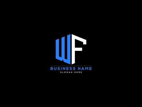 WF Letter Logo, wf logo image vector for business
