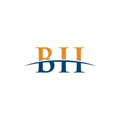 BII initial overlapping movement swoosh horizon, logo design inspiration company