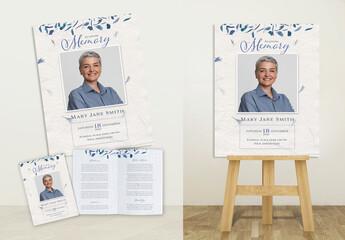 Fototapeta Funeral, Blue Print Set obraz