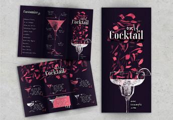 Obraz Flyer Triptych Cocktail - fototapety do salonu