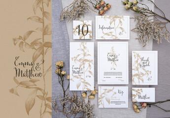 Obraz Wedding Stationary - Botanic  - fototapety do salonu