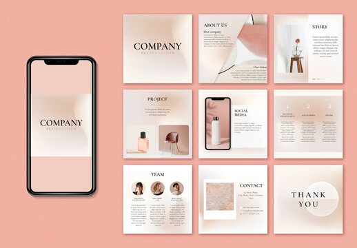 Business Social Media Layout in Earth Tone