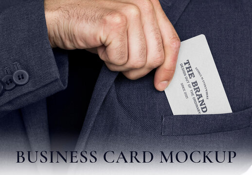 Business Card Mockup in a Business Man Hand