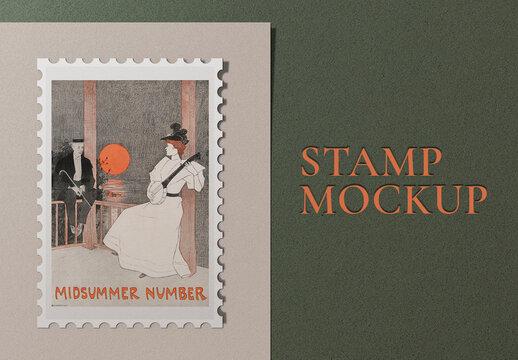 Stamp Design Mockup