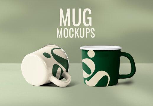 Mug Mockup in Green G Alphabet