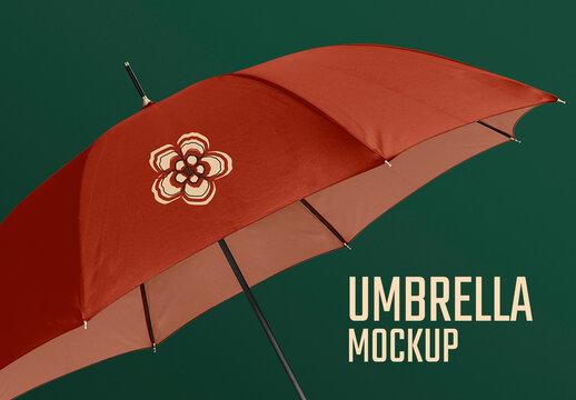 Editable Umbrella Mockup in Retro Design