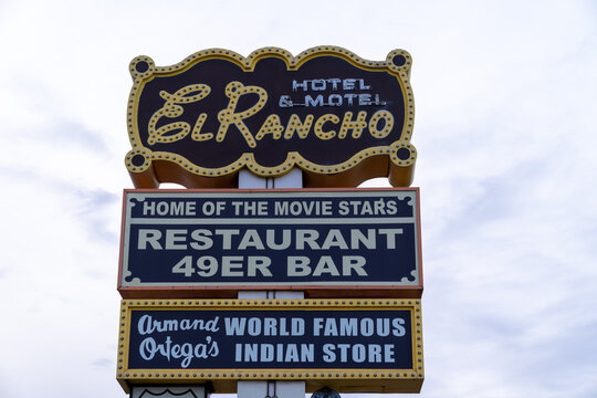 Gallup, New Mexico - May 18, 2021: The famous historic El Rancho Motel Hotel, off of Route 66