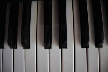 piano keys top down