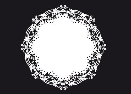 schneeweiße Tortenspitze als Rahmen und Dekoration