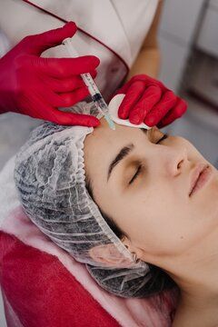 injection cosmetology procedures. High quality photo