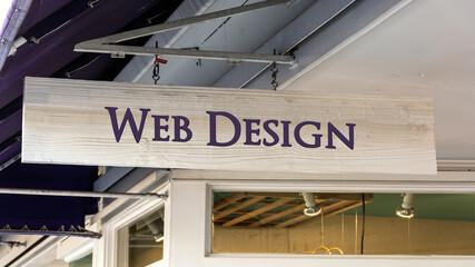 Fototapeta Street Sign to Web Design obraz
