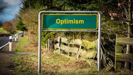 Fototapeta Street Sign to Optimism obraz