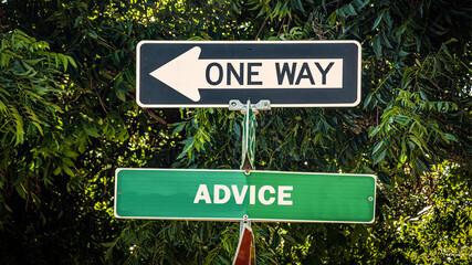 Fototapeta Street Sign to Advice obraz