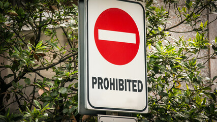 Fototapeta Street Sign to Allowed versus Prohibited obraz