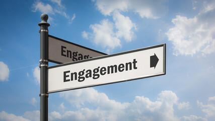 Fototapeta Street Sign to Engagement obraz
