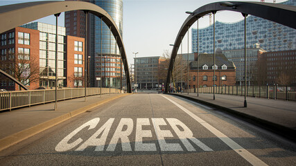 Fototapeta Street Sign to Career obraz