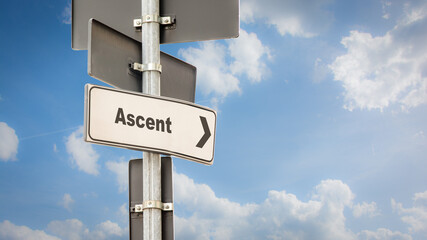 Fototapeta Street Sign to Ascent obraz