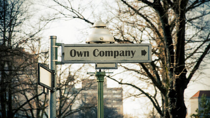 Fototapeta Street Sign Own Company obraz