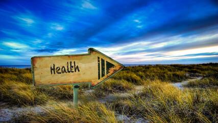 Fototapeta Street Sign to Health obraz
