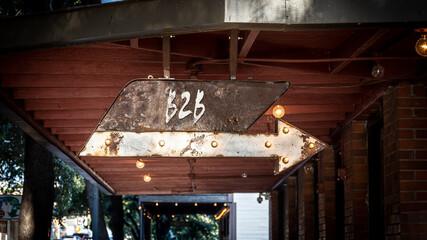 Fototapeta Street Sign to B2B obraz