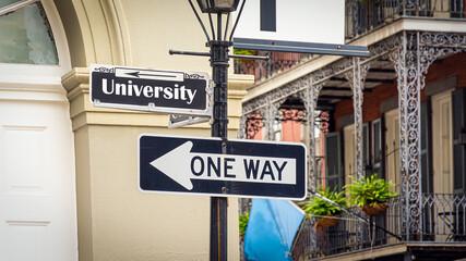 Fototapeta Street Sign to University obraz