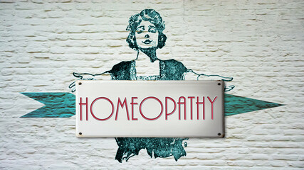 Fototapeta Street Sign to Homeopathy obraz