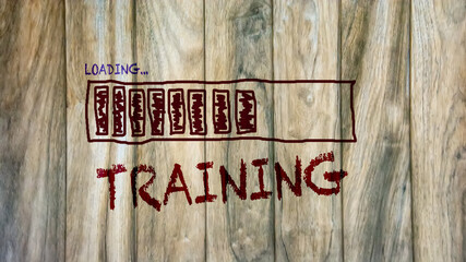 Fototapeta Street Sign to Training obraz