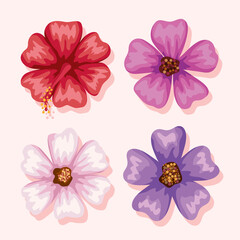 Fototapeta flowers symbol collection obraz