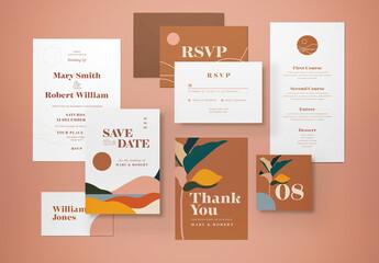 Obraz Wedding Invitation Layout - fototapety do salonu