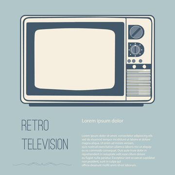 Retro television (tv) with Space for text editing vecter design