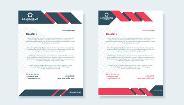 modern business letterhead template design