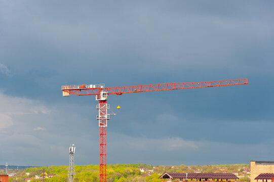"Chinese construction crane ""Dahan""."
