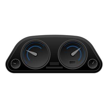 Car dashboard icon, cartoon style