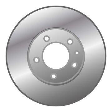 Car brake disc icon, cartoon style