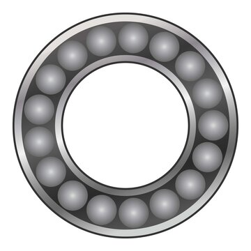 Car bearing icon, cartoon style