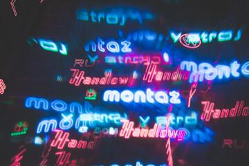 Abstrakcyjne świecące neony - fototapety na wymiar