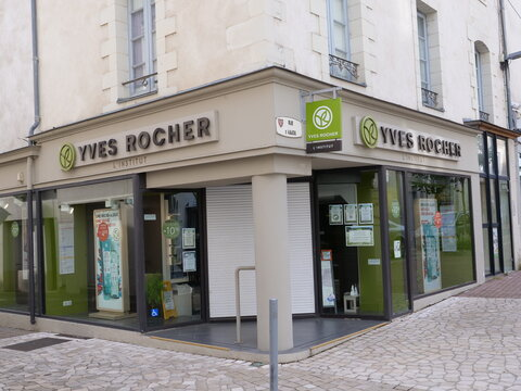 The Yves Rocher store at Ancenis. France, the 4th june 2021.