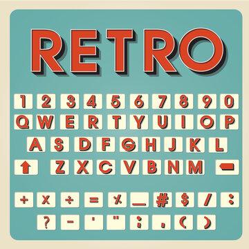Vintage alphabet. Retro type font. 3d letters. Typography for your design. Vector illustration EPS10