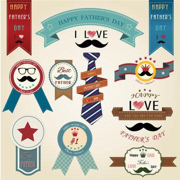 Happy fathers day vintage retro type font,Illustrator eps10 vector design