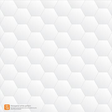 Hexagonal white pattern geometric abstract background
