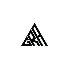 Obraz G R A letter logo abstract creative design. G R A unique design - fototapety do salonu