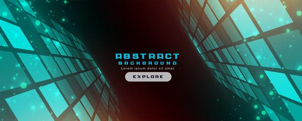 Obraz abstract futuristic technology style banner design - fototapety do salonu
