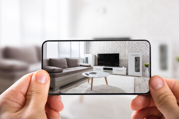 Obraz Human Hand Using Mobile Phone - fototapety do salonu